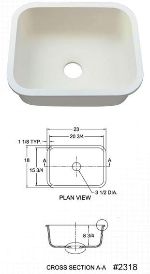 Hi macs sinks and bowls custom granite countertops for Corian sink accessories